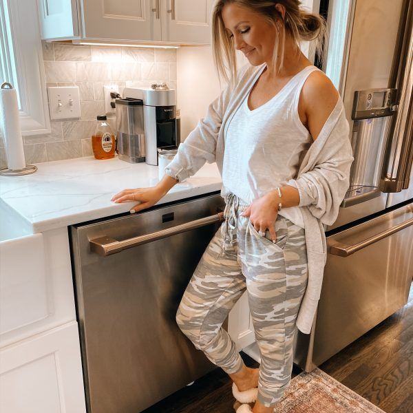 Two ways to style the Express camo sweats + 40% off!