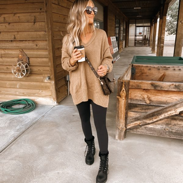 Cozy, cold weather neutrals + Combat Boots that get my approval!